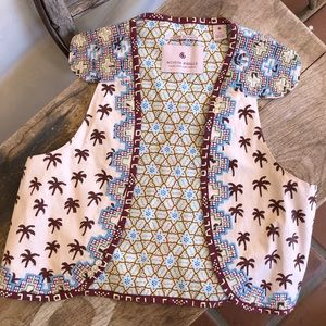 SCOTCH R'BELLE Embroidered Vest Girls 14 RARE NEW!